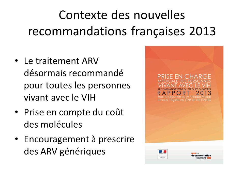 Contexte des nouvelles recommandations françaises 2013