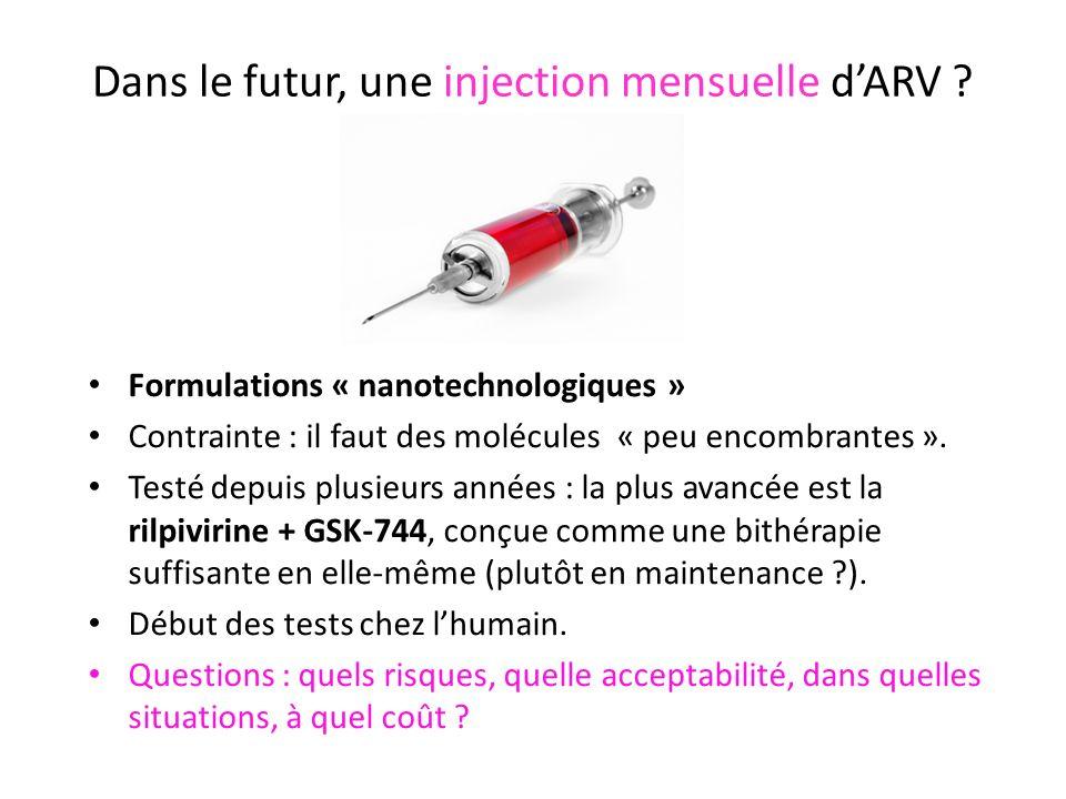 Dans le futur, une injection mensuelle d'ARV