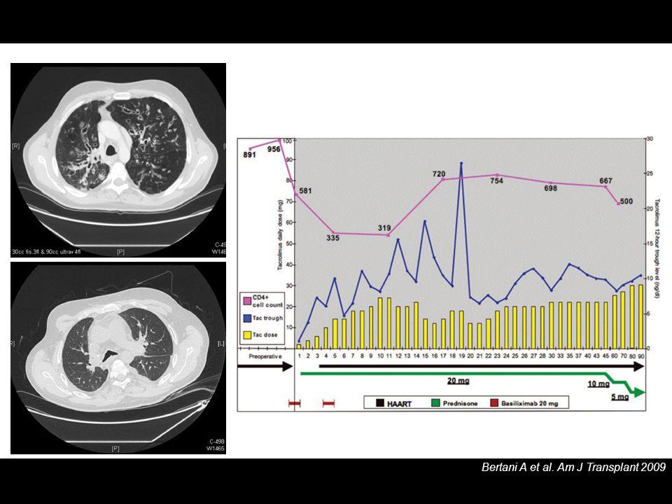 Bertani A et al. Am J Transplant 2009