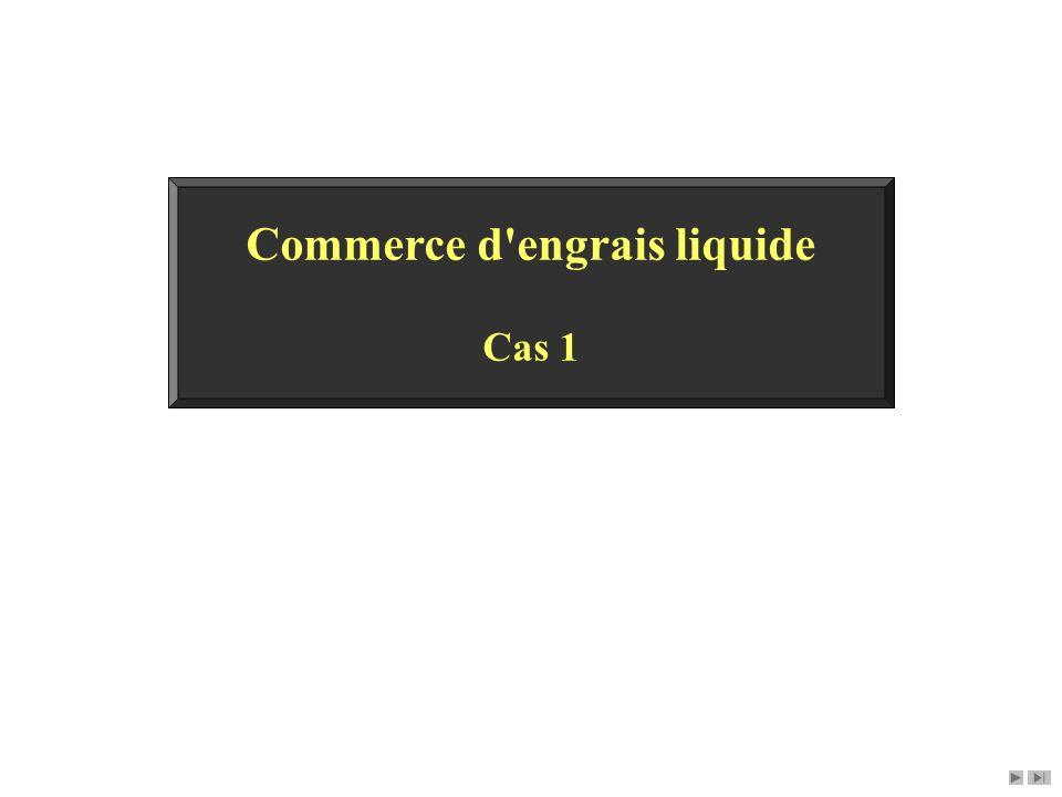 Commerce d engrais liquide