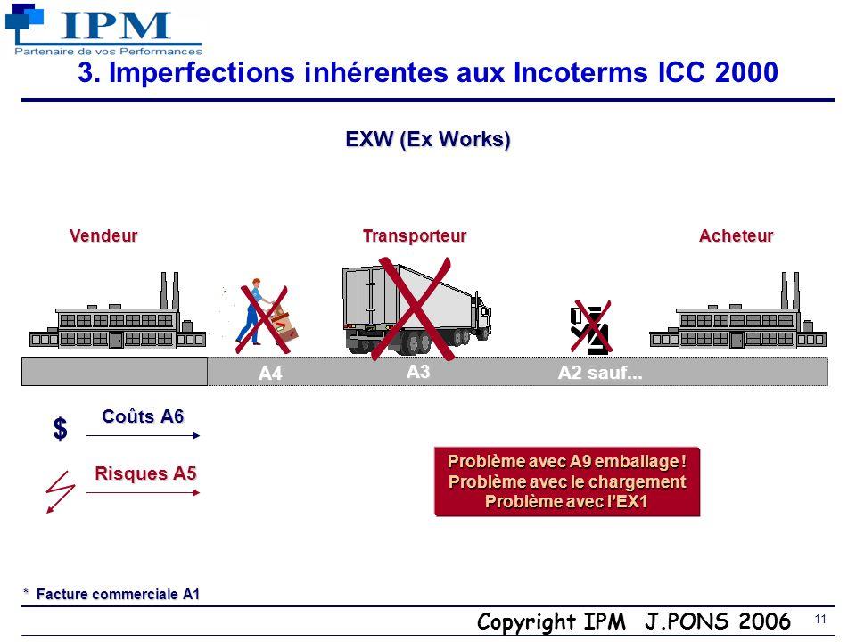 3. Imperfections inhérentes aux Incoterms ICC 2000