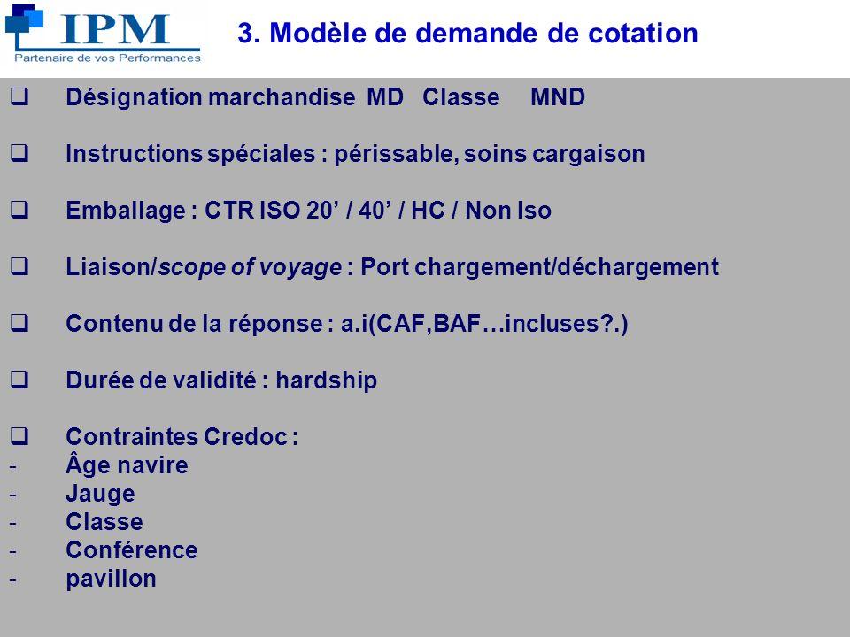 3. Modèle de demande de cotation