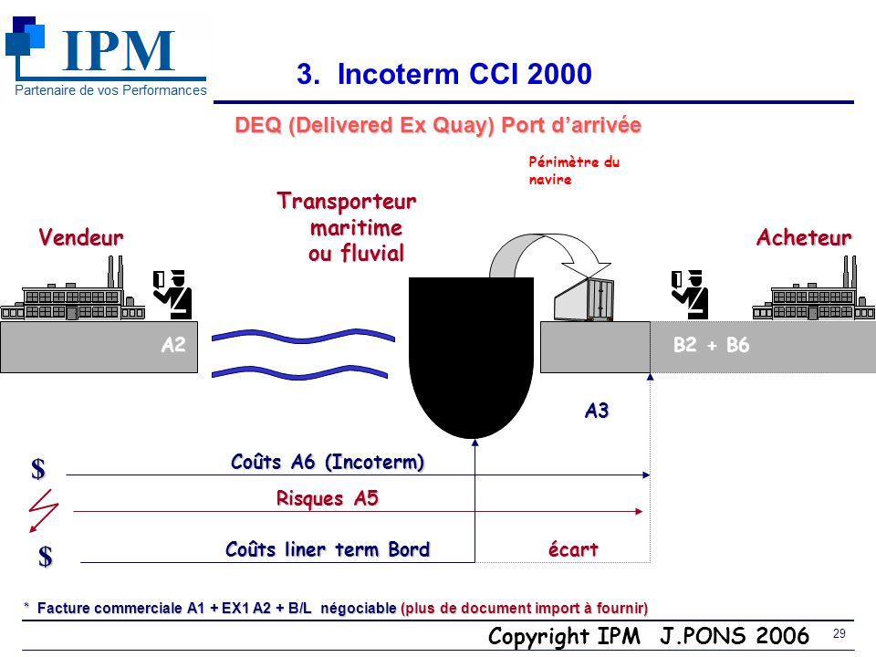 DEQ (Delivered Ex Quay) Port d'arrivée