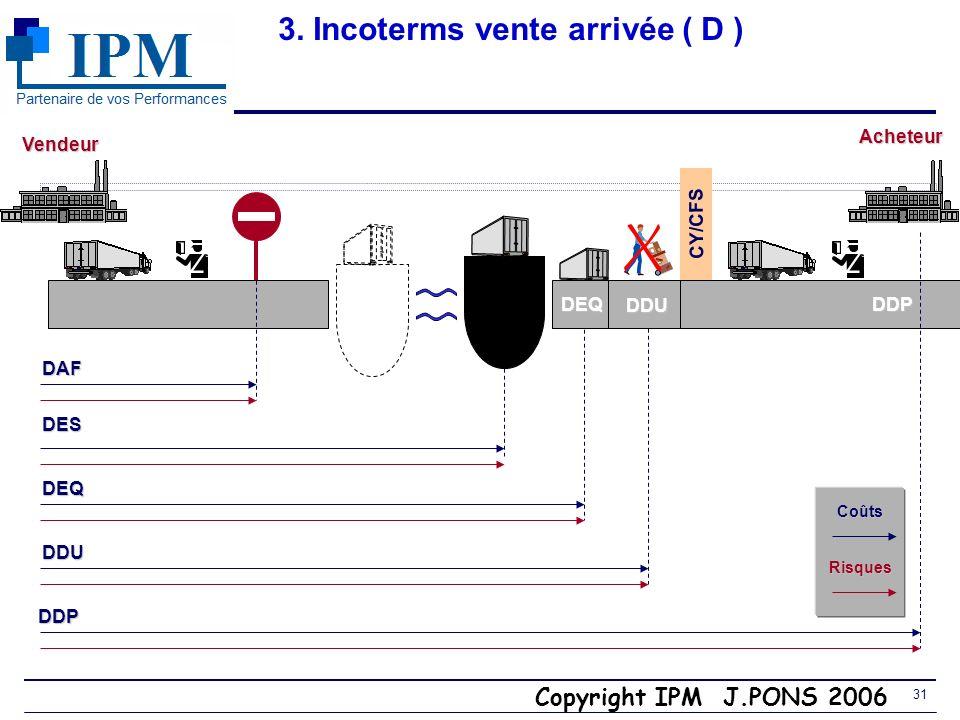 3. Incoterms vente arrivée ( D )