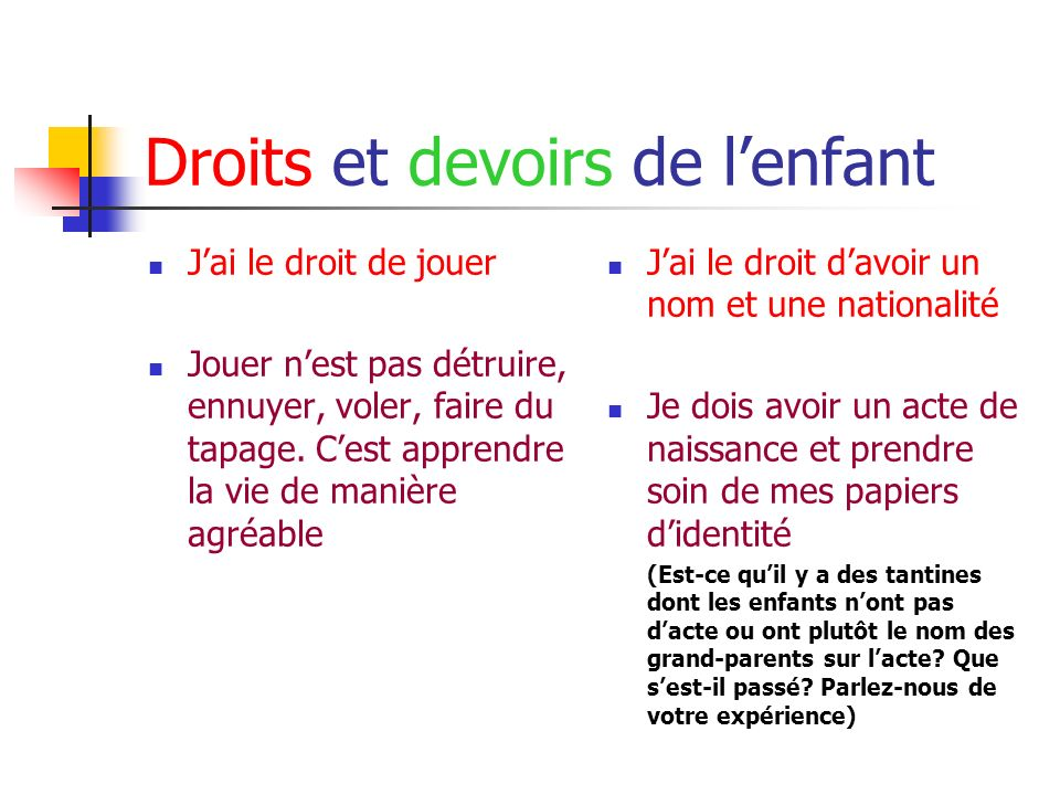 R seau national des associations de tantines ppt video online t l charger - Mes devoirs et mes droits a la maison ...