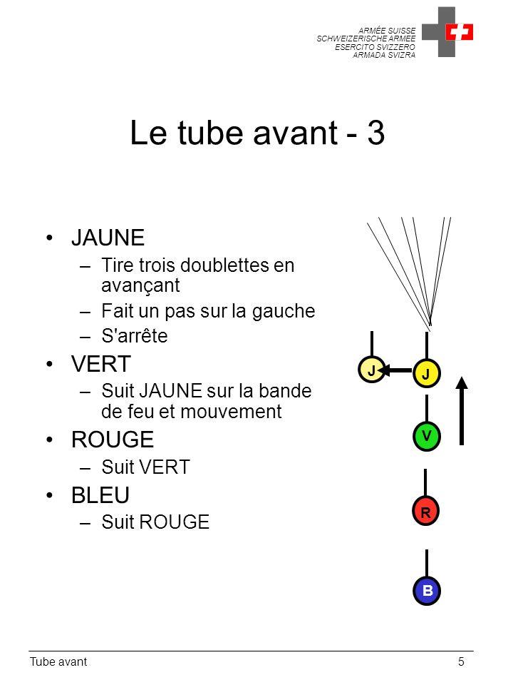 Le tube avant - 3 JAUNE VERT ROUGE BLEU
