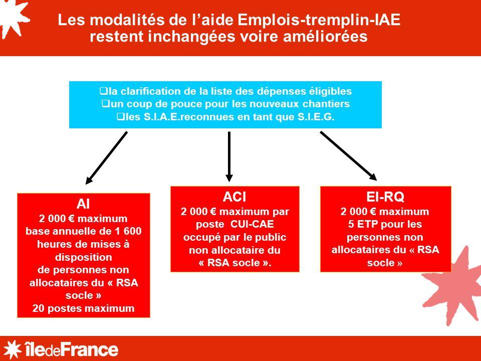 Les modalités de l'aide Emplois-tremplin-IAE restent inchangées voire améliorées