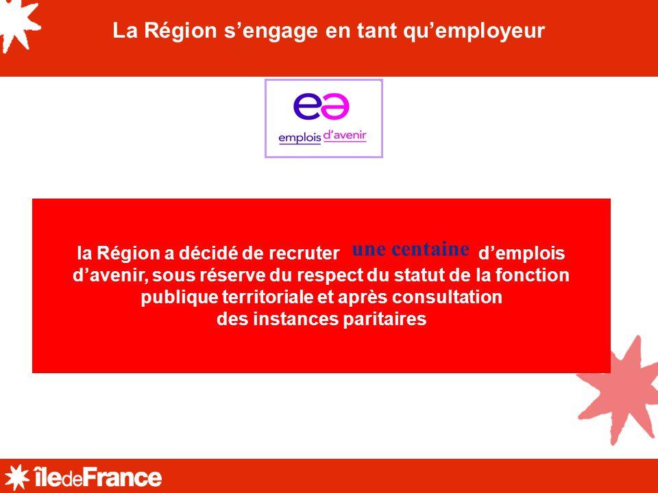 La Région s'engage en tant qu'employeur