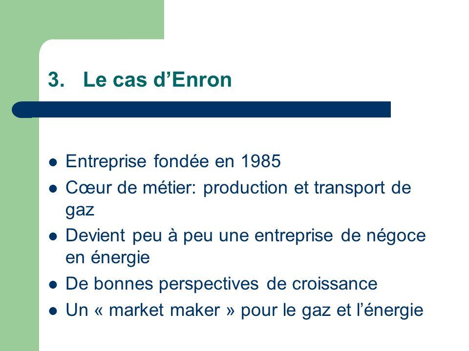 Le cas d'Enron Entreprise fondée en 1985