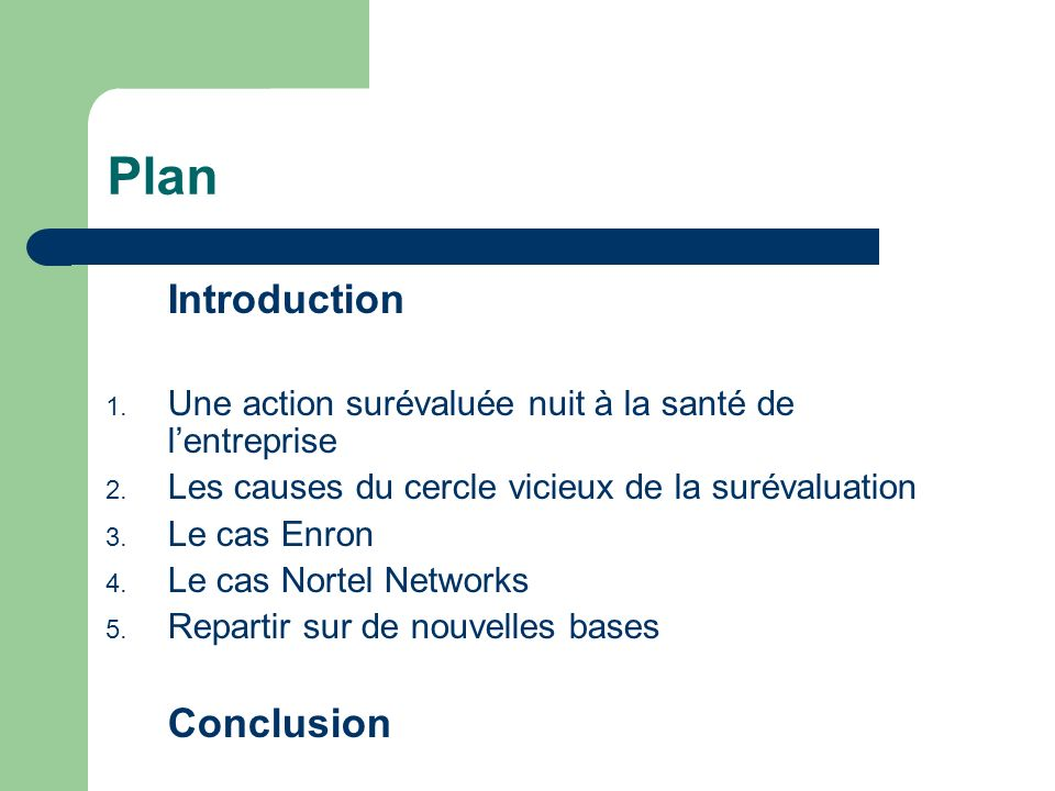 Plan Introduction Conclusion