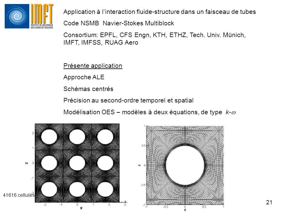 Application à l'interaction fluide-structure dans un faisceau de tubes