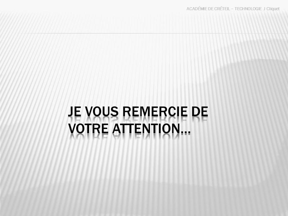 Je vous remercie de votre attention…