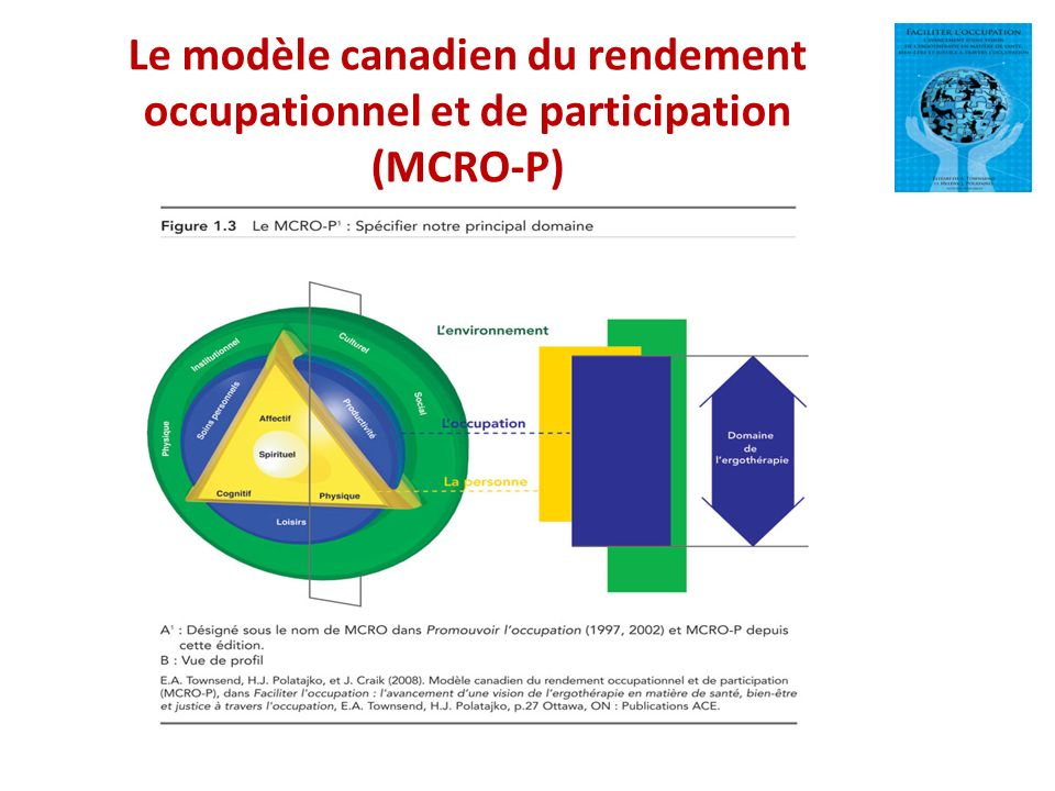 Le modèle canadien du rendement occupationnel et de participation (MCRO-P)