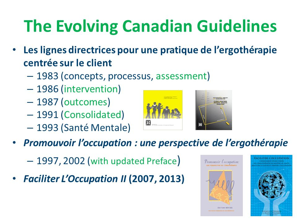 The Evolving Canadian Guidelines