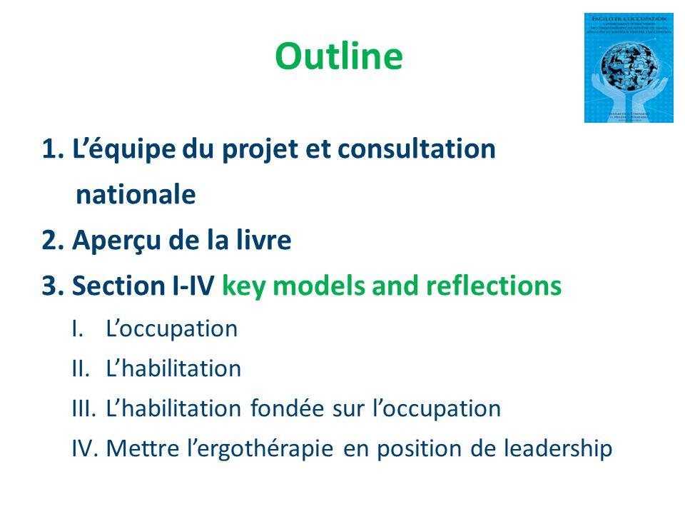 Outline 1. L'équipe du projet et consultation nationale