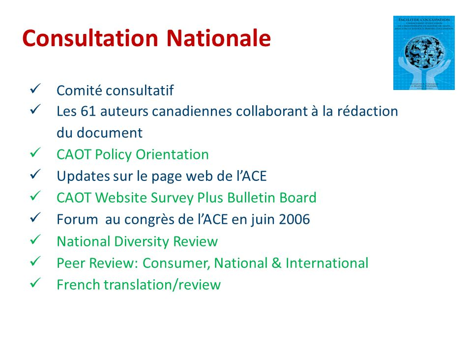 Consultation Nationale