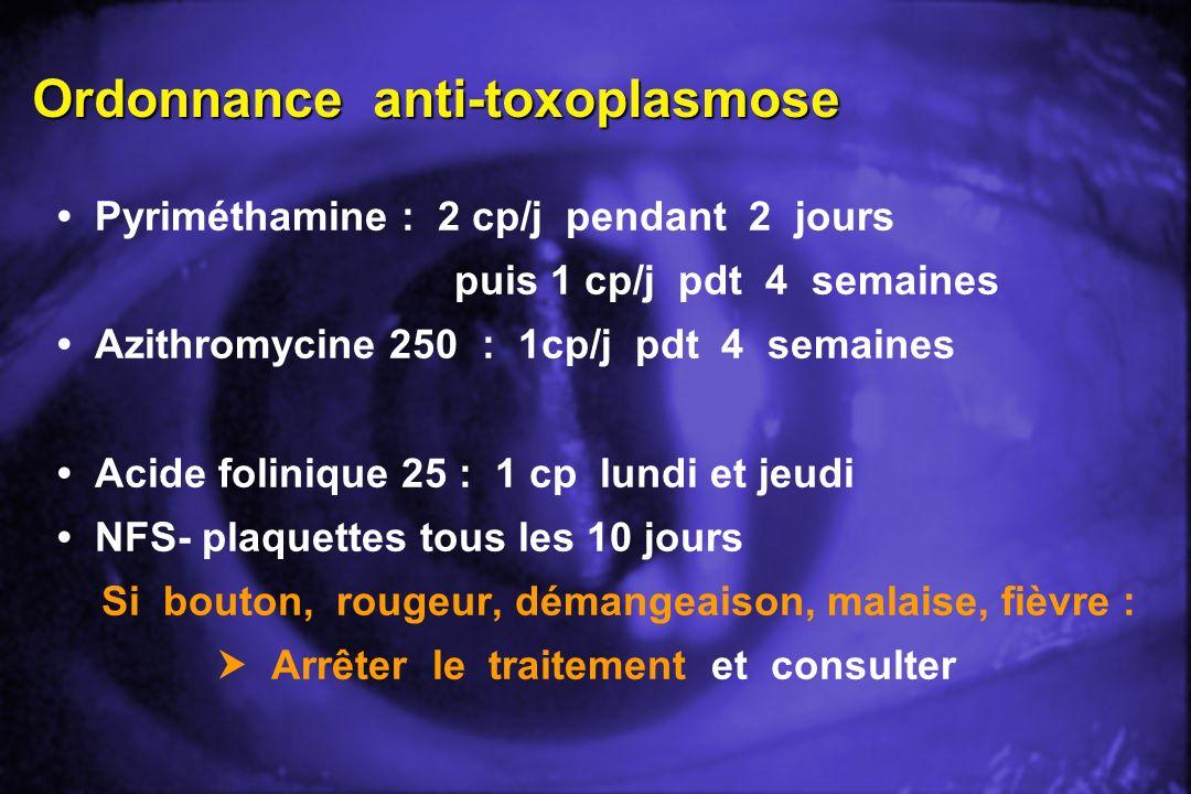 Ordonnance anti-toxoplasmose