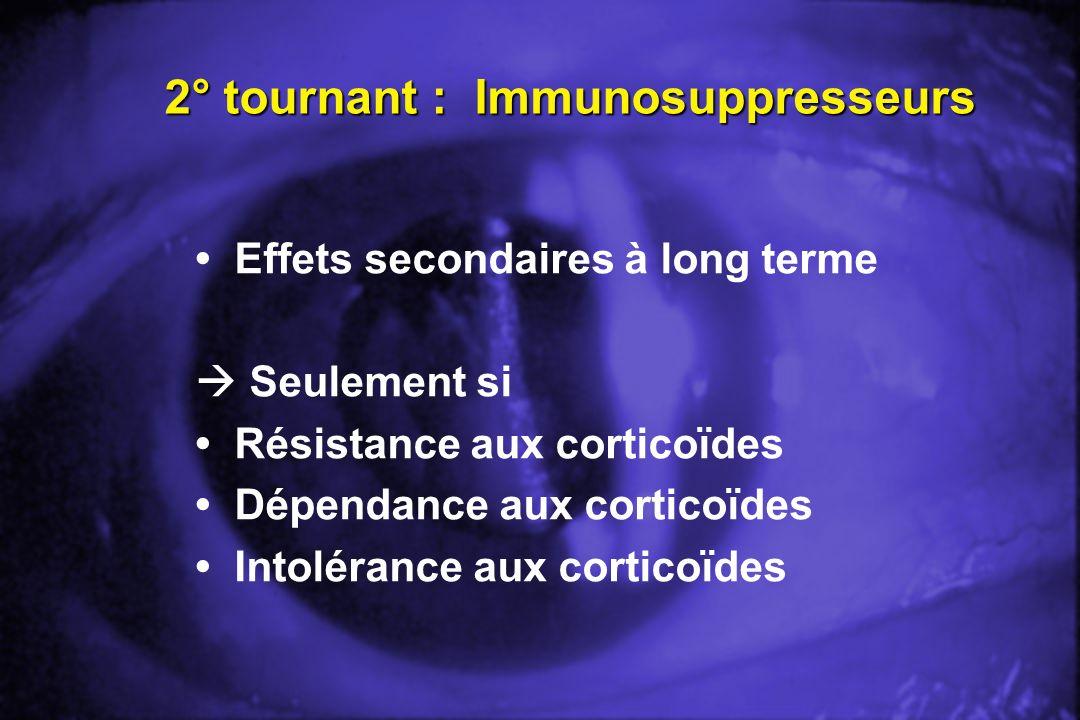 2° tournant : Immunosuppresseurs