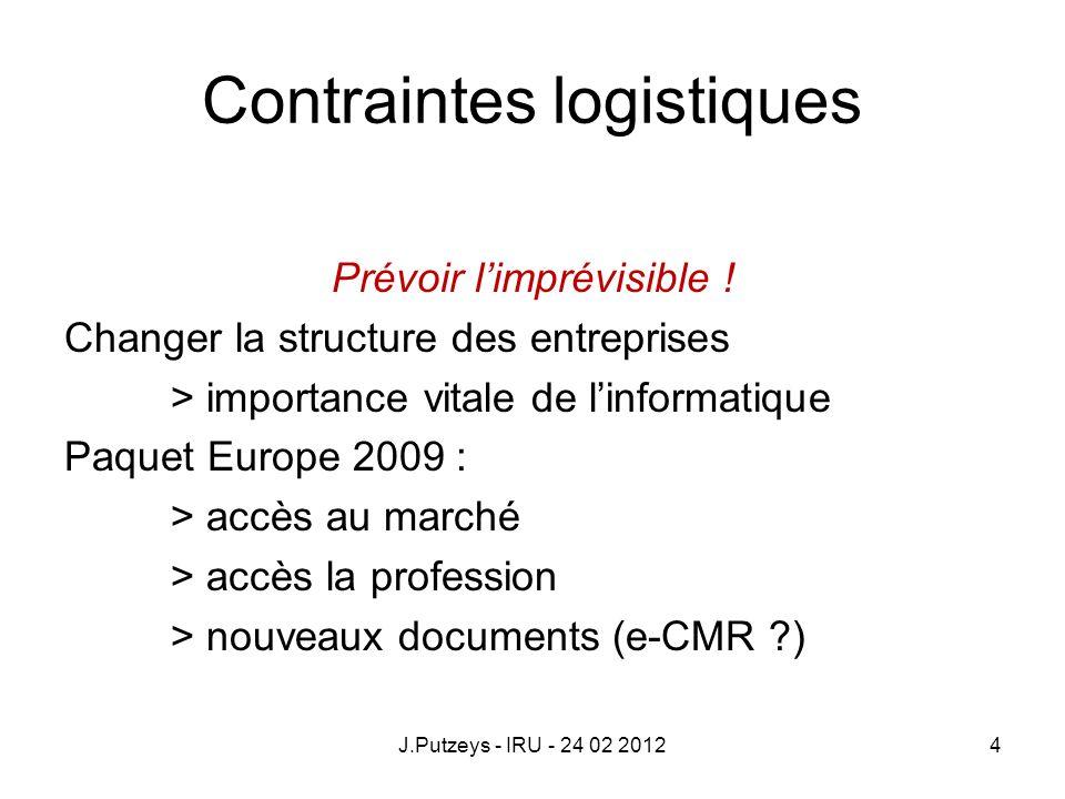 Contraintes logistiques
