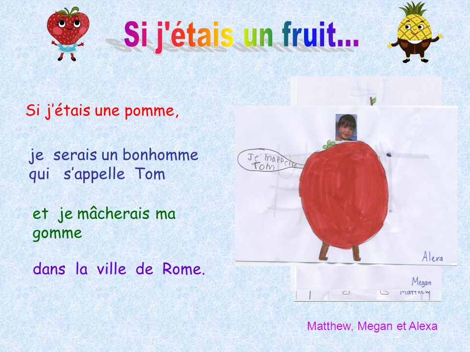 Si j étais un fruit... Si j'étais une pomme,