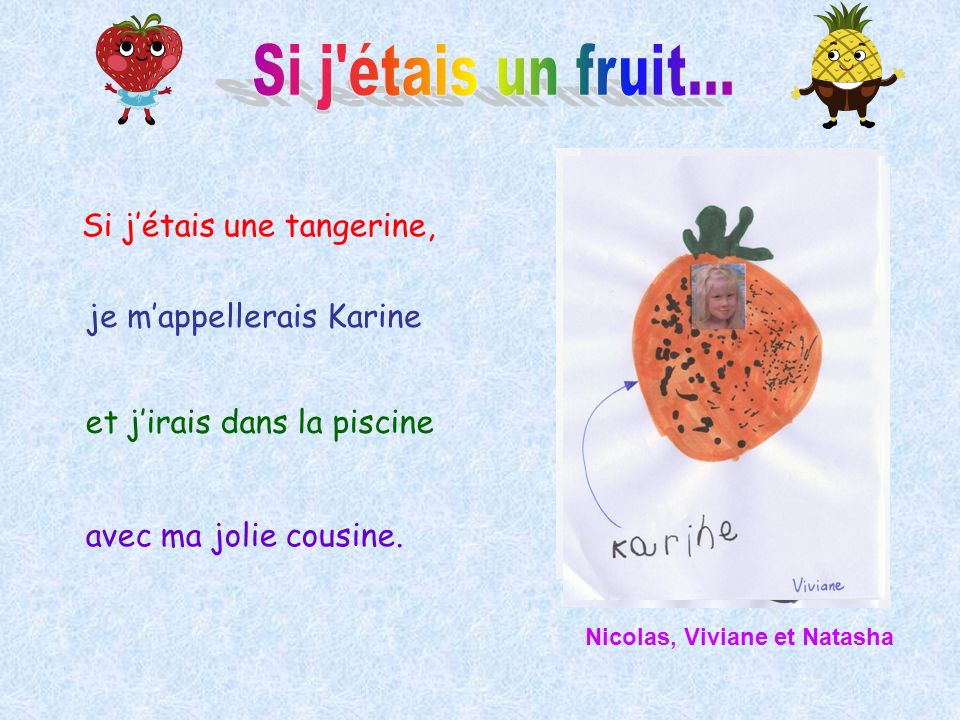 Si j étais un fruit... Si j'étais une tangerine,