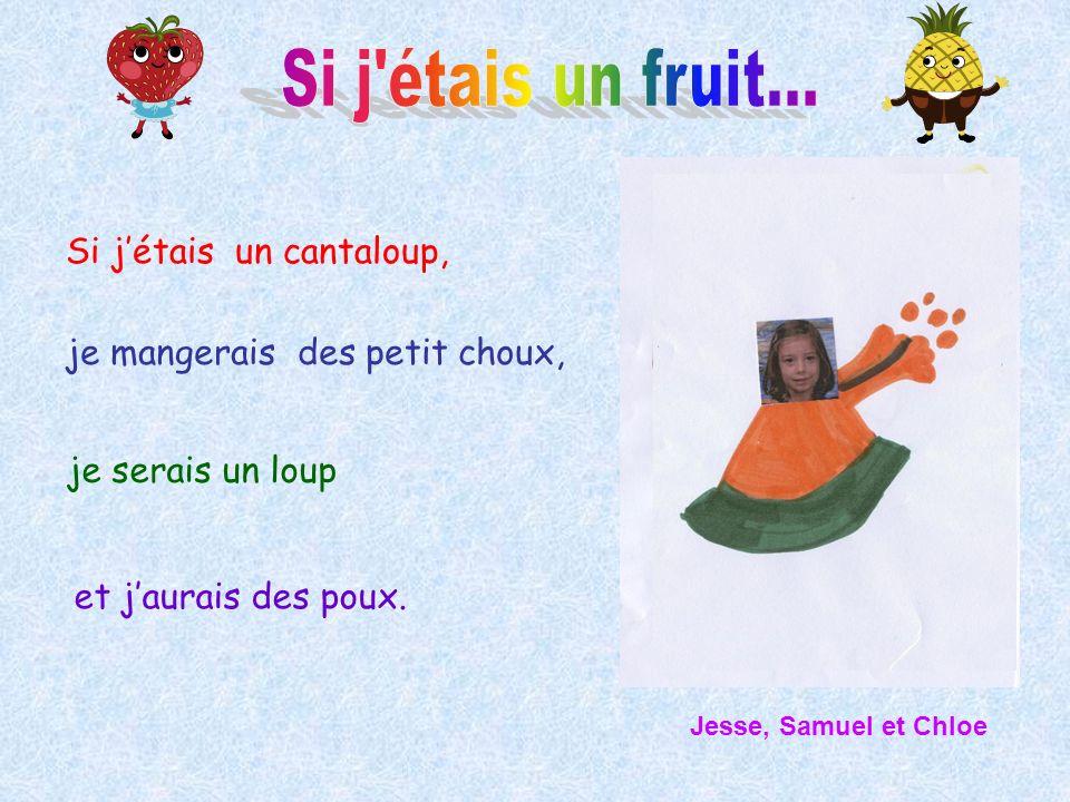 Si j étais un fruit... Si j'étais un cantaloup,