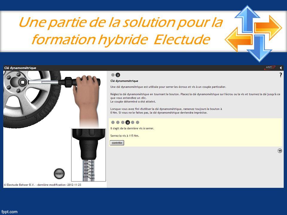 Une partie de la solution pour la formation hybride Electude