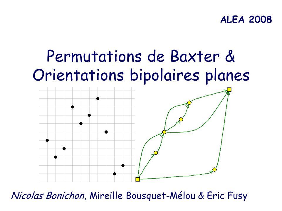 Permutations de Baxter & Orientations bipolaires planes