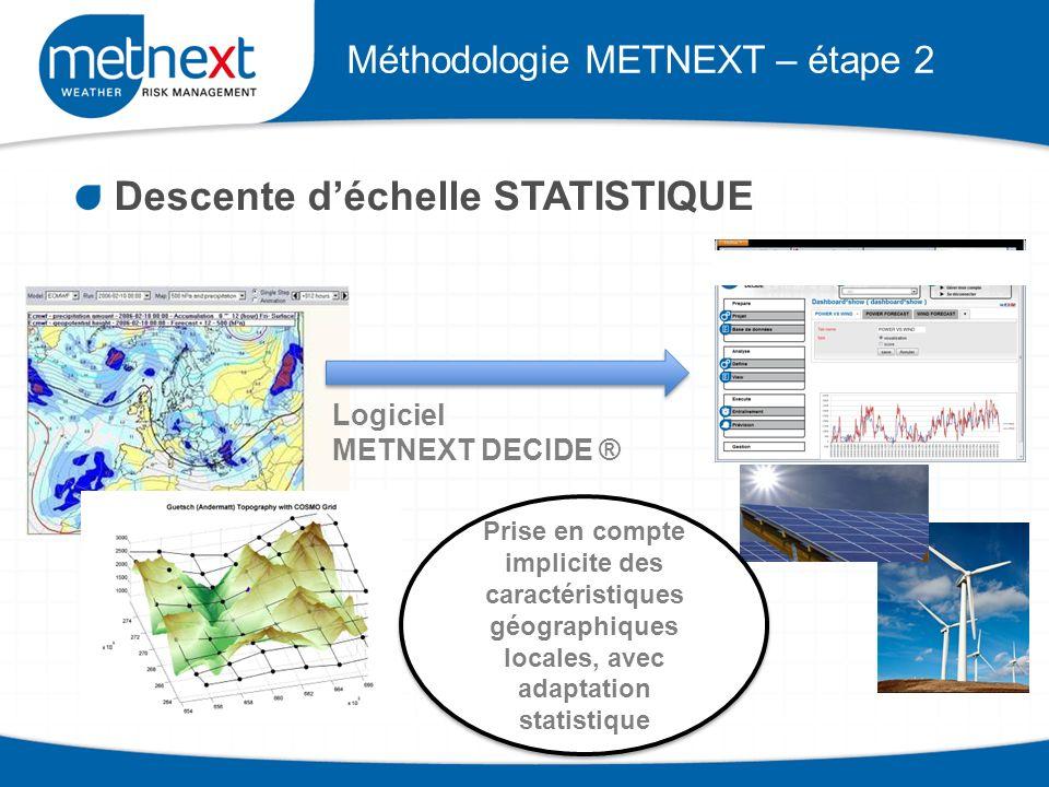 Méthodologie METNEXT – étape 2