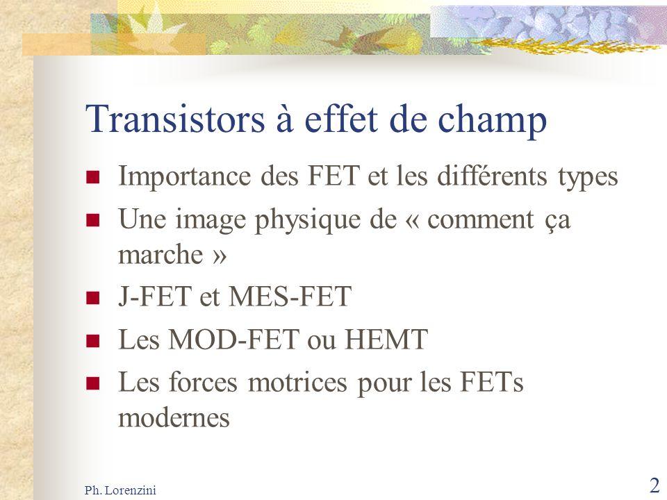 Transistors à effet de champ