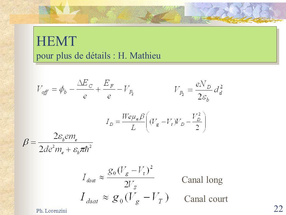 HEMT pour plus de détails : H. Mathieu