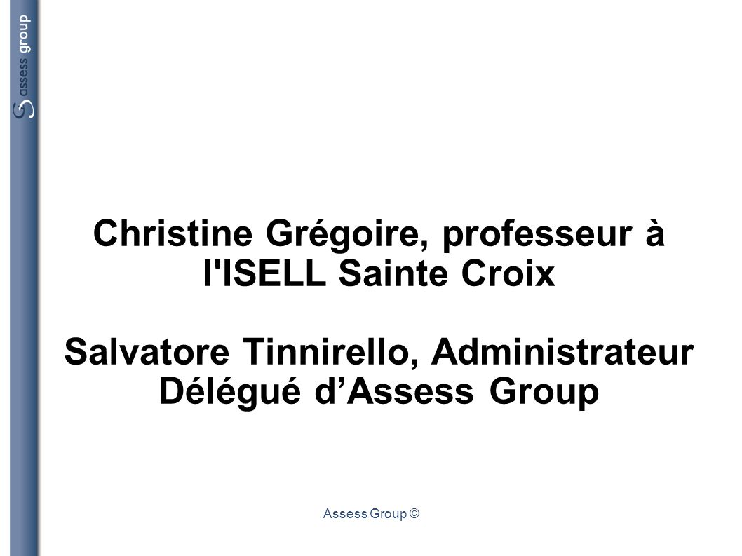Christine Grégoire, professeur à l ISELL Sainte Croix