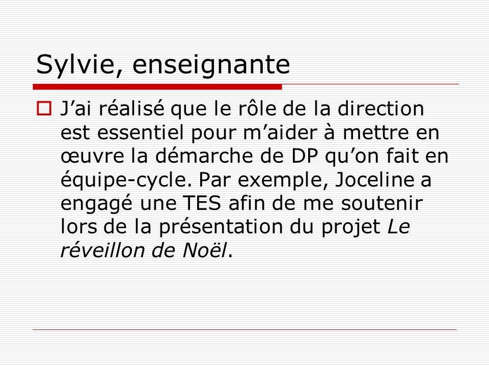 Sylvie, enseignante