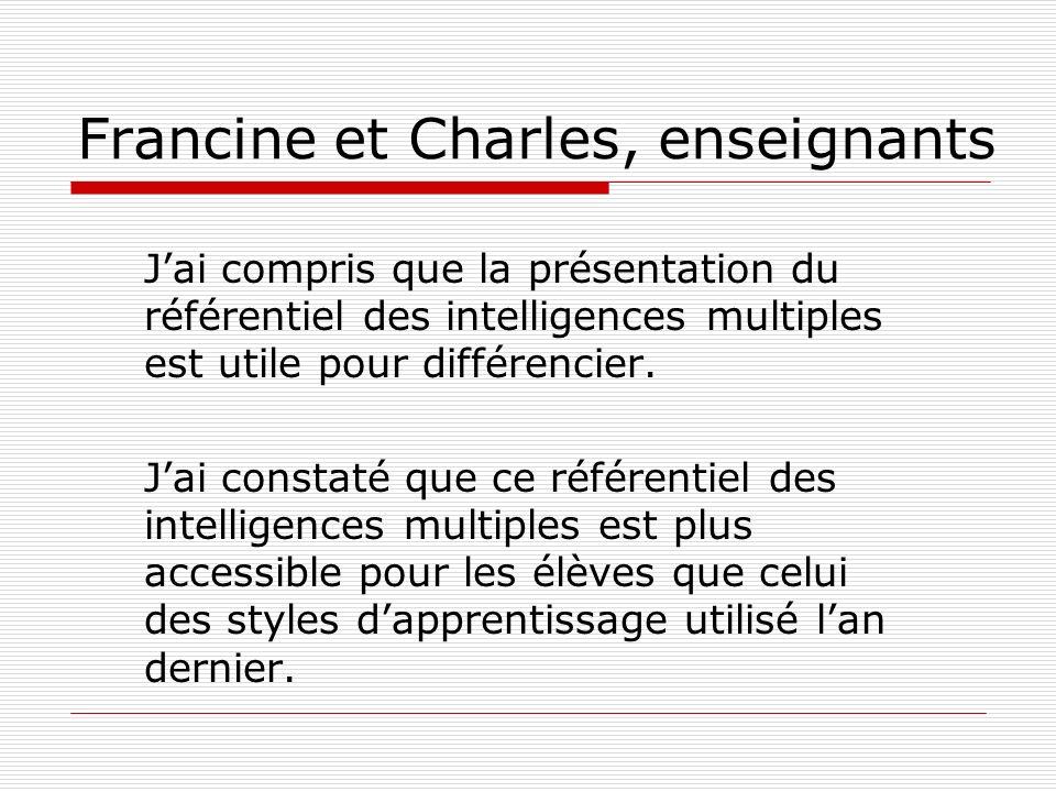 Francine et Charles, enseignants