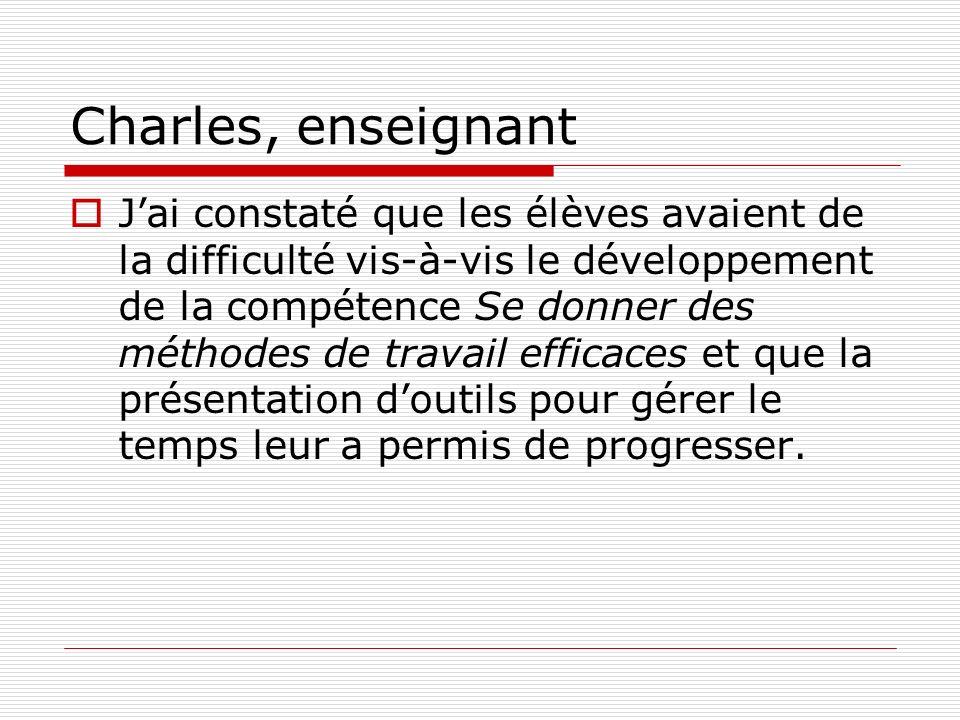 Charles, enseignant