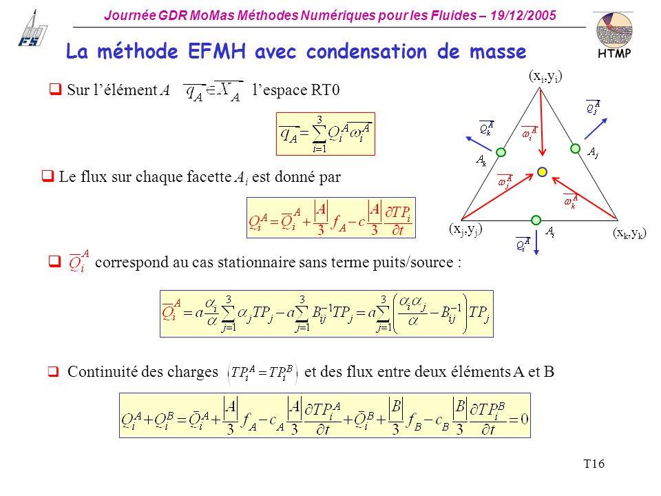 La méthode EFMH avec condensation de masse