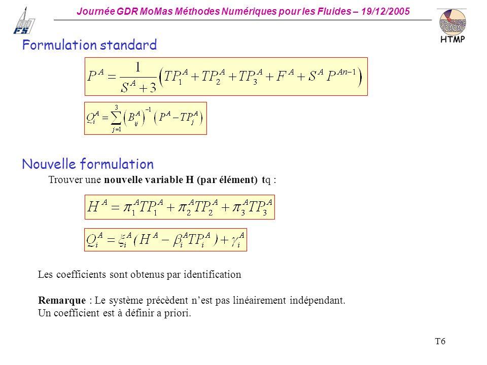 Formulation standard Nouvelle formulation