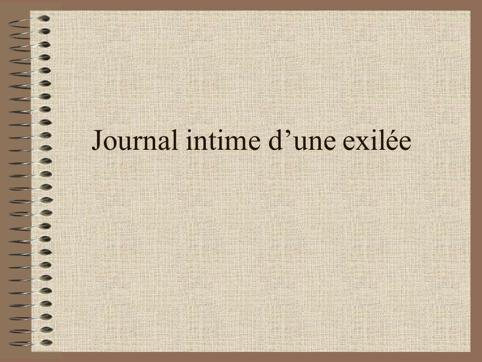 Journal intime d'une exilée