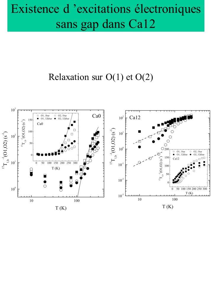 Existence d 'excitations électroniques sans gap dans Ca12