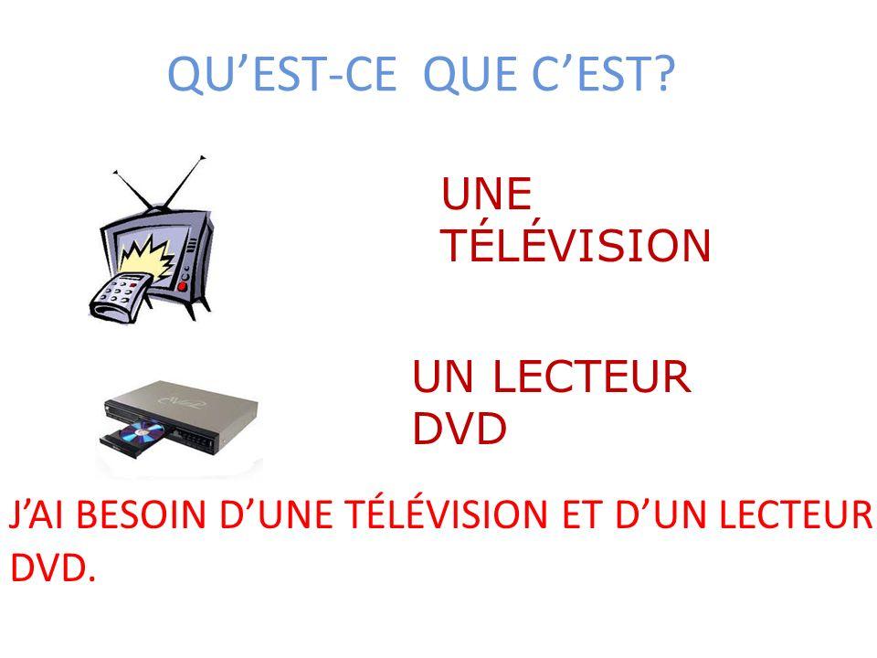 QU'EST-CE QUE C'EST UNE TÉLÉVISION UN LECTEUR DVD