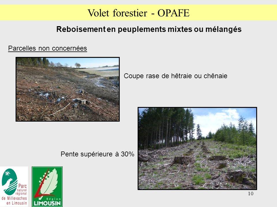 Volet forestier - OPAFE