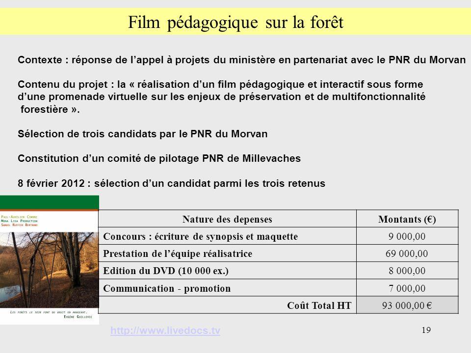 Film pédagogique sur la forêt