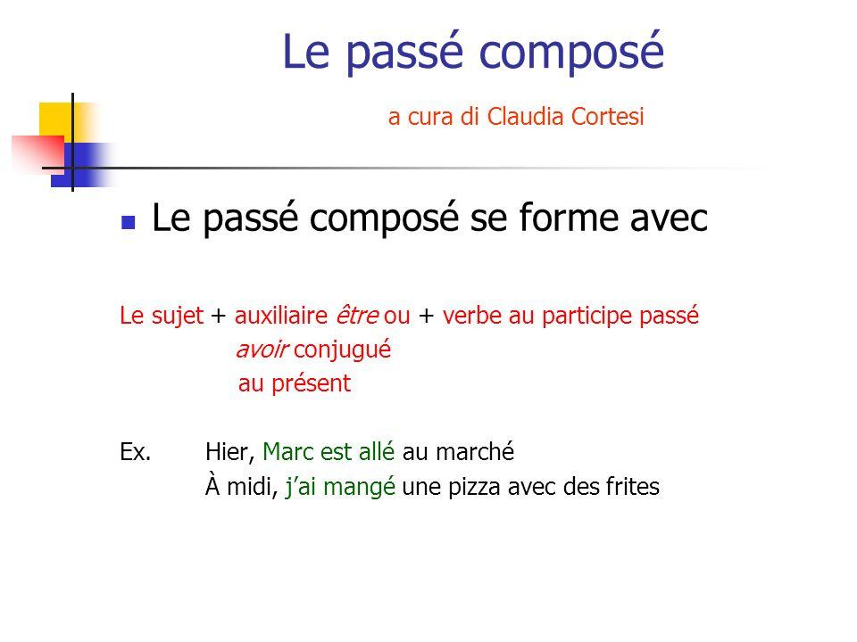 Le passé composé a cura di Claudia Cortesi