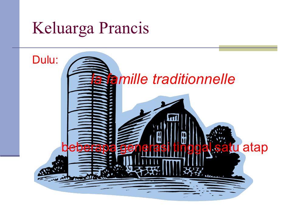 Keluarga Prancis beberapa generasi tinggal satu atap Dulu: