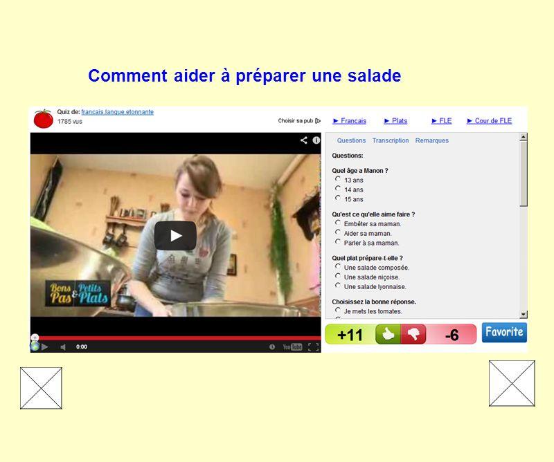Comment aider à préparer une salade