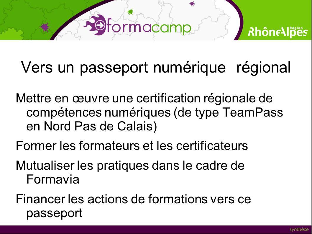 Vers un passeport numérique régional