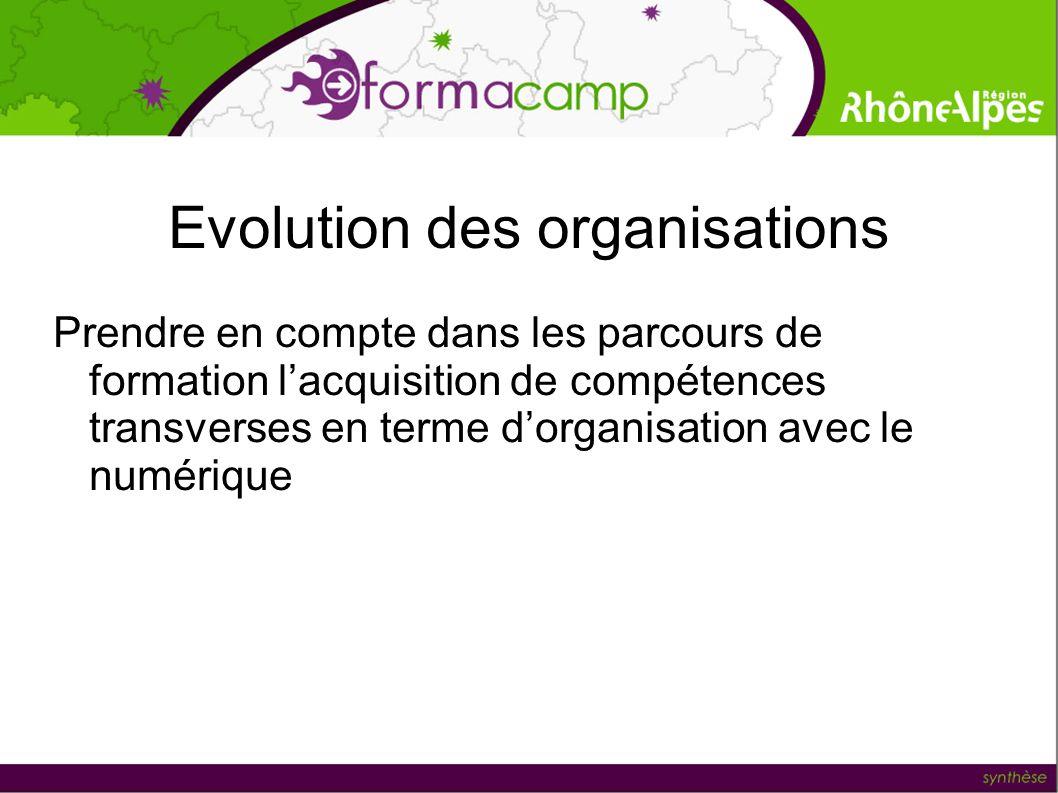 Evolution des organisations