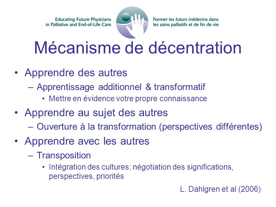 Mécanisme de décentration