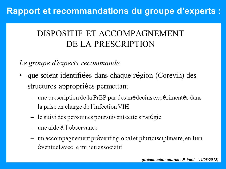 DISPOSITIF ET ACCOMPAGNEMENT DE LA PRESCRIPTION
