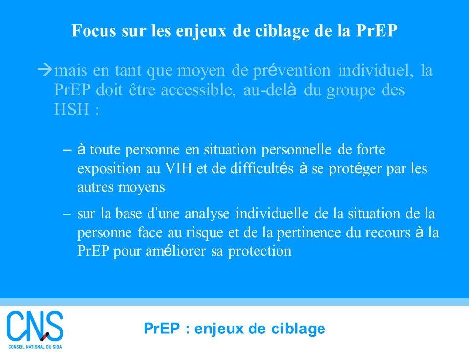 Focus sur les enjeux de ciblage de la PrEP